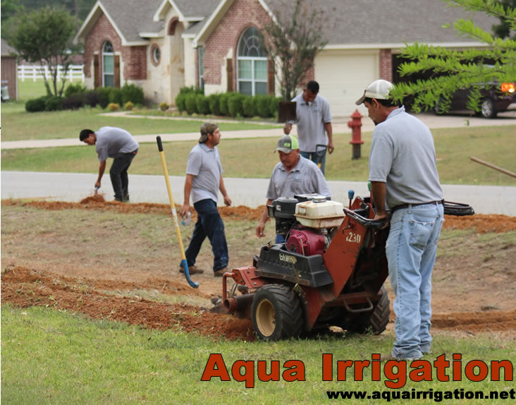 Aqua Irrigation services include New Sprinkler Systems, Sprinkler Repair and French Drains | www.aquairrigation.net